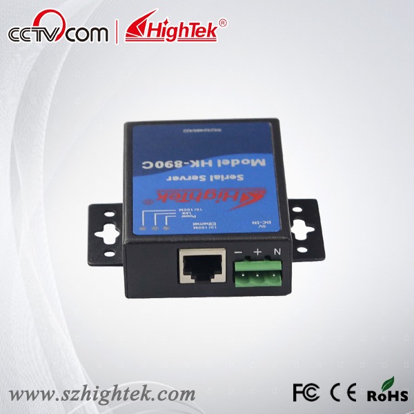 HighTek HK-890C TCP/IP Ethernet to RS232/485/422 Serial Device Server hightek hk 8116b industrial 16 ports rs485 422 to ethernet converter ethernet to serial device server