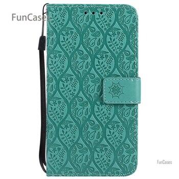 Flor vid Flip Case sFor Celular Samsung J5 PU bolsa de cuero...