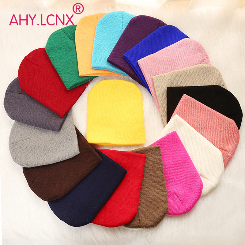 Baby Hat 2019 New Autumn Winter Warm Solid Unisex Baby Boy Girl Kids Toddler Infant Colorful Cotton Soft Cute Hats Cap Beanie