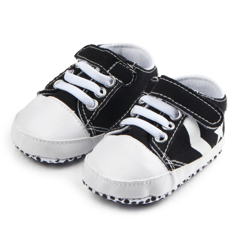 Baby Moccasins Infant Anti-slip Canvas First Walker Comfortable Soft Soled Newborn Sneakers Baby Shoes