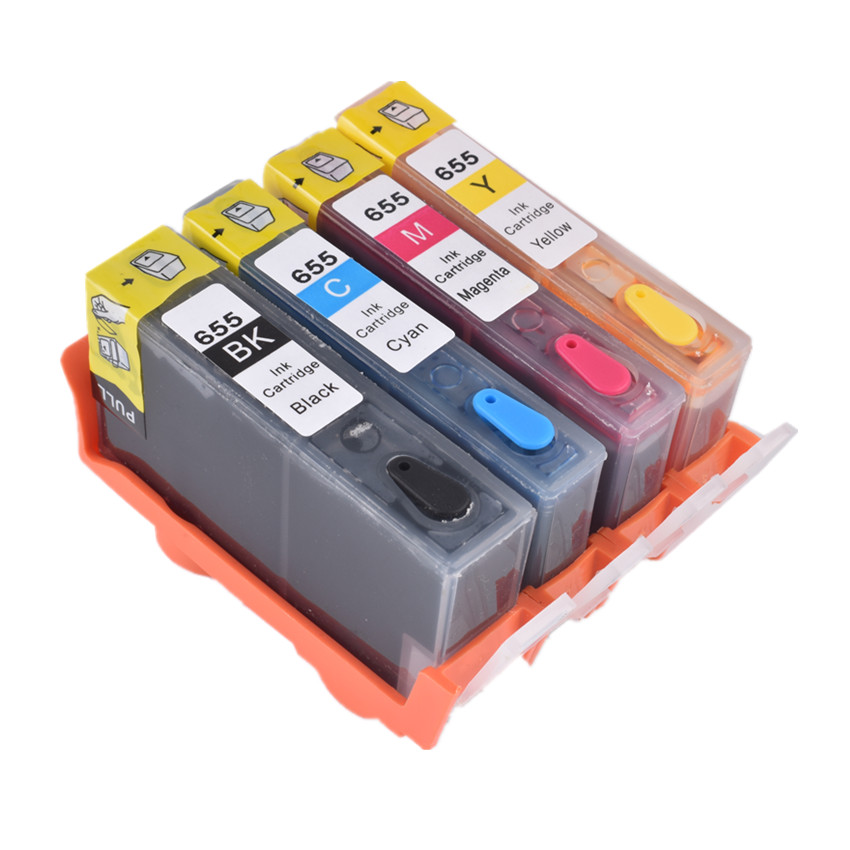 BLOOM Compatible For Hp 655 Refillable Ink Cartridge Full Ink FOR HP Deskjet 3525 5525 4615 4625 4525 6520 6525 6625 Printer