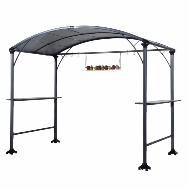 Abba Patio 9u0027x 5u0027 Outdoor Backyard BBQ Grill Gazebo with Steel Canopy Gray  sc 1 st  AliExpress.com & Abba Patio 9u0027x 5u0027 Outdoor Backyard BBQ Grill Gazebo with Steel ...