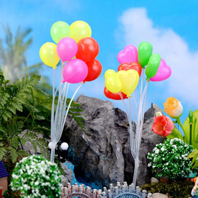 Cute Micro Landscape Garden Decorations Christmas Gift Miniatures Mini Dolls Home Garden Simulation Colorful Balloons