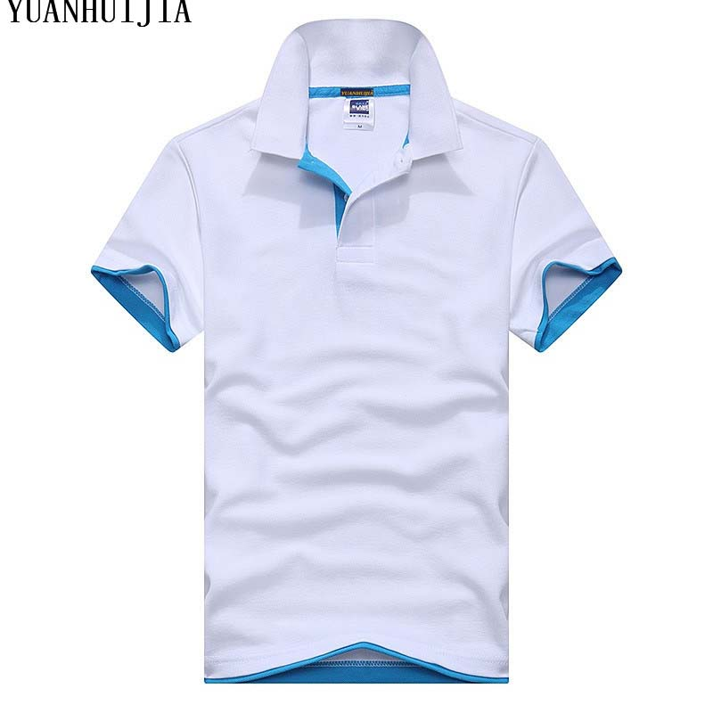 men's cotton polo shirt new brand breathable men's short-sleeved shirt size XS-3XL business casual lapel men's shirt
