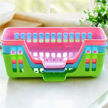 Plastic Dish Sponge Soap Drain Shelf Rack Holder Box Kitchen Bathroom Sink Storage Basket 3 Colors Home Small Objects