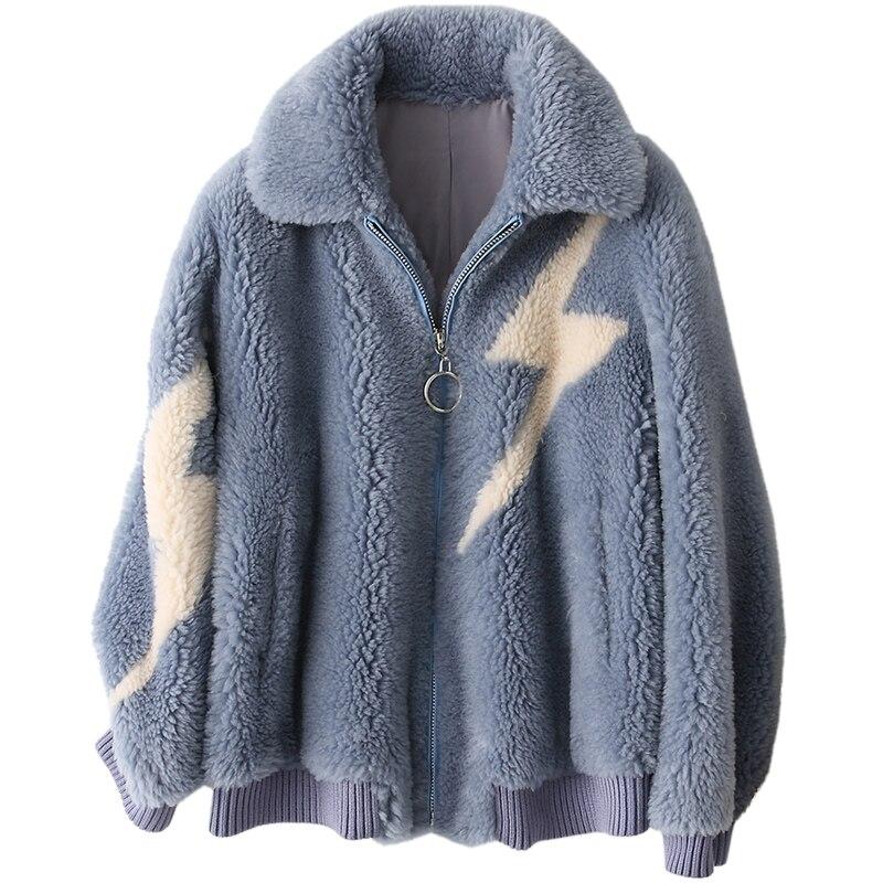 Réel Vintage Manteau Automne Femmes Femme De Européenne Bleu Z978 Veste Vêtements Manteaux Hiver Tonte Nouvelle Des Laine Moutons Pour Fourrure 0E8fqtWxZw