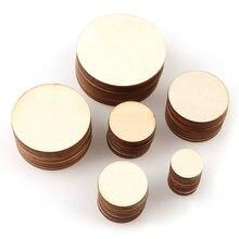 10 50 шт деревянные диски для рукоделия 30 60 мм