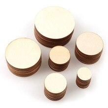 30-60mm 10mm-50 piezas de la naturaleza de la madera pulido Base Handmake de registro discos manualidades DIY boda cuadro decorativo