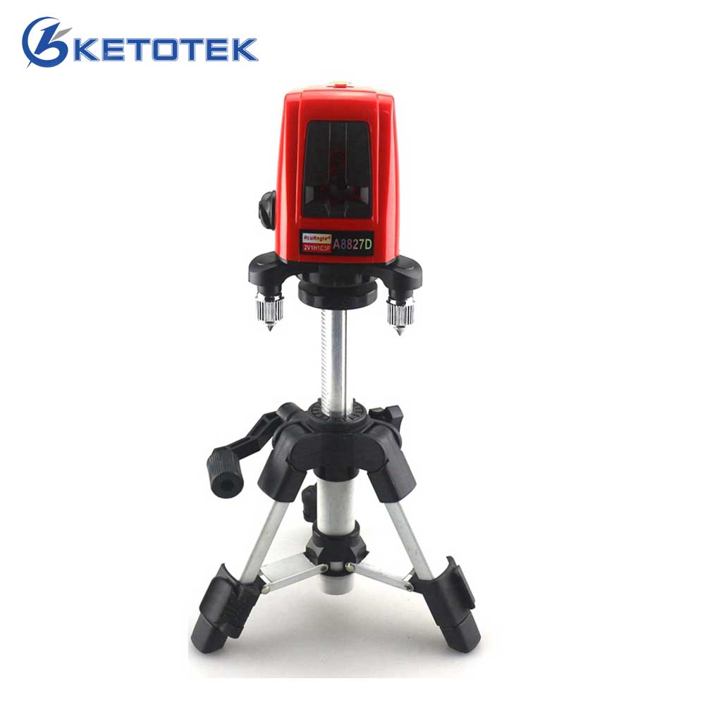ACUANGLE A8827D 3 Lines 3 points Red Line Laser Level 360 Self-leveling Cross with AT280 Tripod Diagnostic-tool acuangle a8827d 3 lines 3 points red line laser level 360 self leveling cross with at280 tripod diagnostic tool