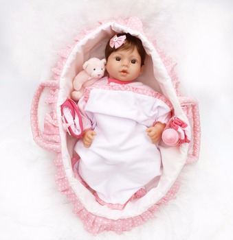 Silicone Reborn Baby Doll Toy Princess Toddler