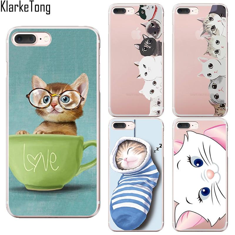 Klarketong marca lindo bolsillo negro cat case cubierta del teléfono para el iph
