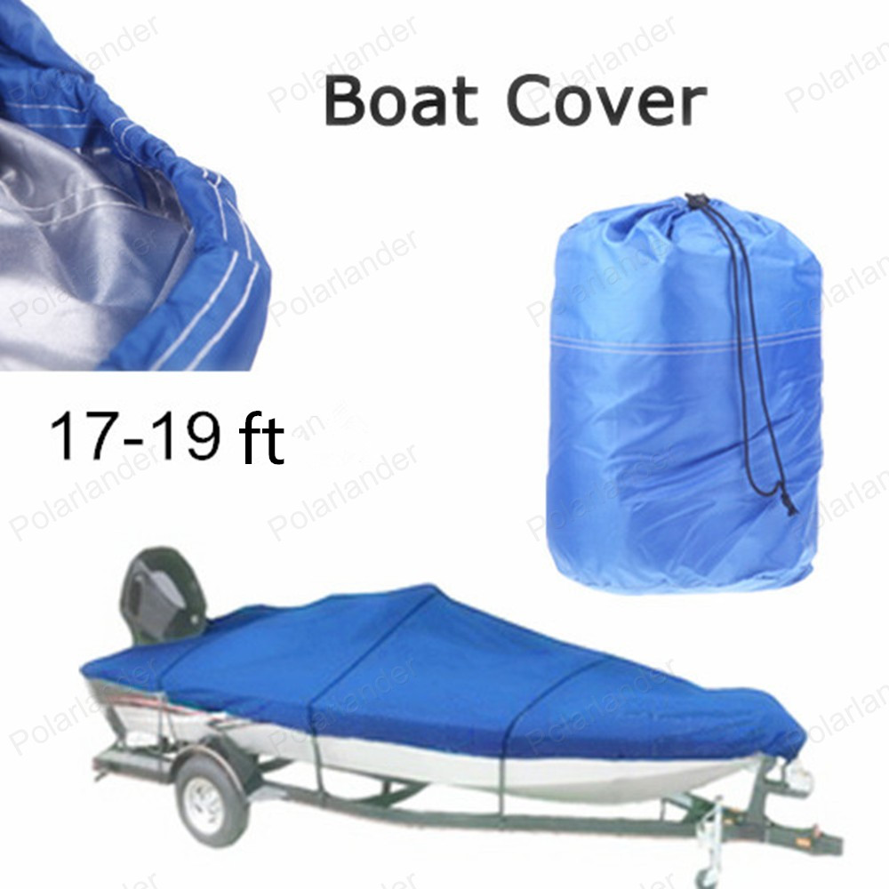 ФОТО HOT SELL Waterproof 210D Boat Cover 17-19ft Beam 125inch Trailerable Fish Ski V-Hull Weather Proof UV Snow Protected BOAT COVER