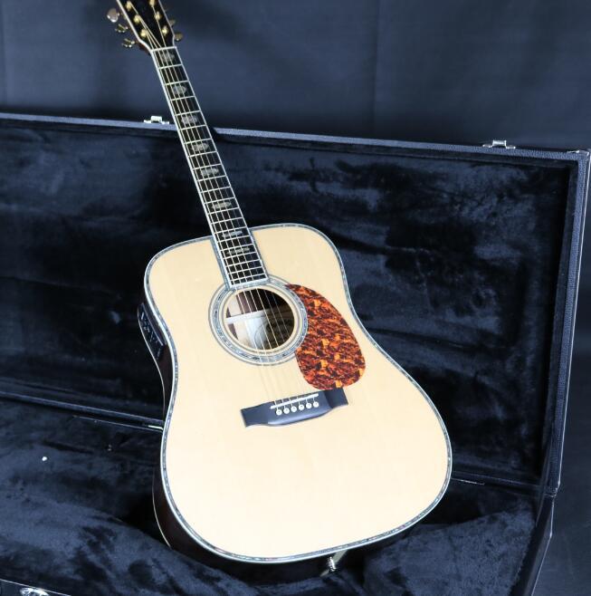 41 ''D45A guitare acoustique électrique Fishman EQ haut rigide manche en acajou Grover accordeur touche en ébène