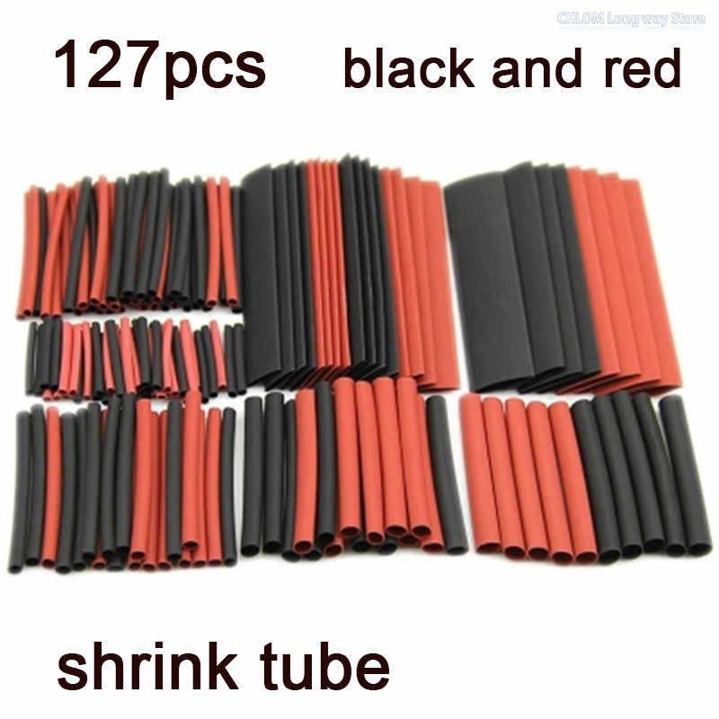 PVC 熱収縮チューブ 127 個 2:1 ポリオレフィン熱ケーブルワイヤー収縮チューブ収縮スリーブ絶縁電線熱収縮チューブキット