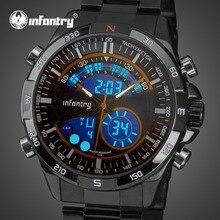 Для пехоты мужские часы лучший бренд класса люкс аналоговые цифровые военные часы мужские армейские часы для летчиков для мужчин часы Relogio Masculino