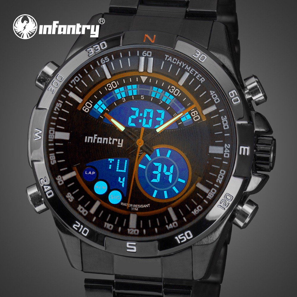 INFANTRY Mens Watches Top Brand Luxury Analog Digital Military Watch Men Army Aviator Watches for Men Clock Relogio Masculino infantry mens watches top brand analog digital watch men military tactical army watches for men dual time relogio masculin 2018