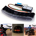 Waterproof 12V Wireless 8 LED Motorcycle Helmet Turn Signal Brake Stop Light Warning Racer Lamp