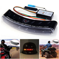 Waterproof 12V Wireless 8 LED Motorcycle Helmet Turn Signal Brake Stop Light Warning Racer Lamp