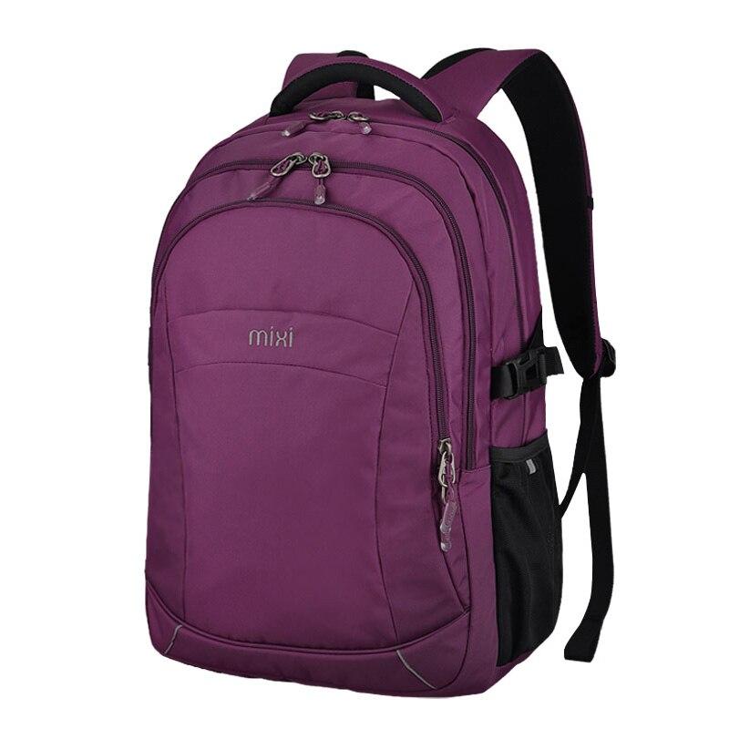 Men's Bags Learned Mixi Fashion Design Laptop Backpack Boys Girls School Bag Double Shoulder Anti-theft Big Capacity Waterproof Metal Handle M5398