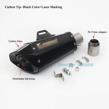 выхлоп ниндзя 300 | 51 мм универсальный модифицированный углеродный хвостовый Глушитель Трубы для большинства мотоциклов выхлопной ниндзя 250 300 CB400 ZX6R дБ убийца...