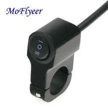 MoFlyeer Universal 7/8 22mm Motorcycle Modification Switch  Aluminum Alloy Headlight Motorbike Scooter Moped Bicycle Switches