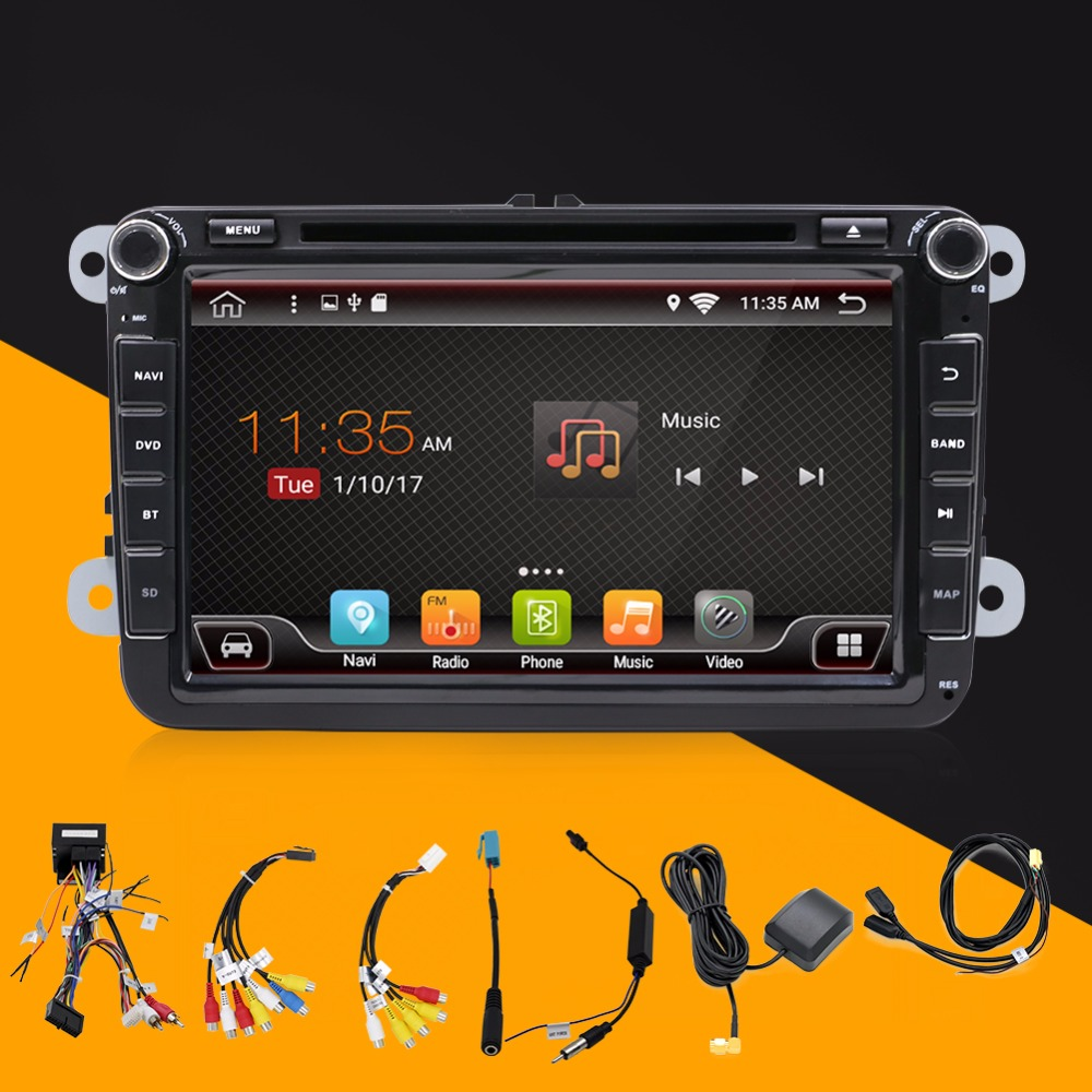 8 2 din Car DVD GPS radio player for VW golf 5 6 touran passat B6 sharan jetta polo tiguan with free canbus joying px5 octa 8 core 2gb ram android 8 0 car radio player for vw golf 5 6 polo passat jetta tiguan touran eos gps navigation