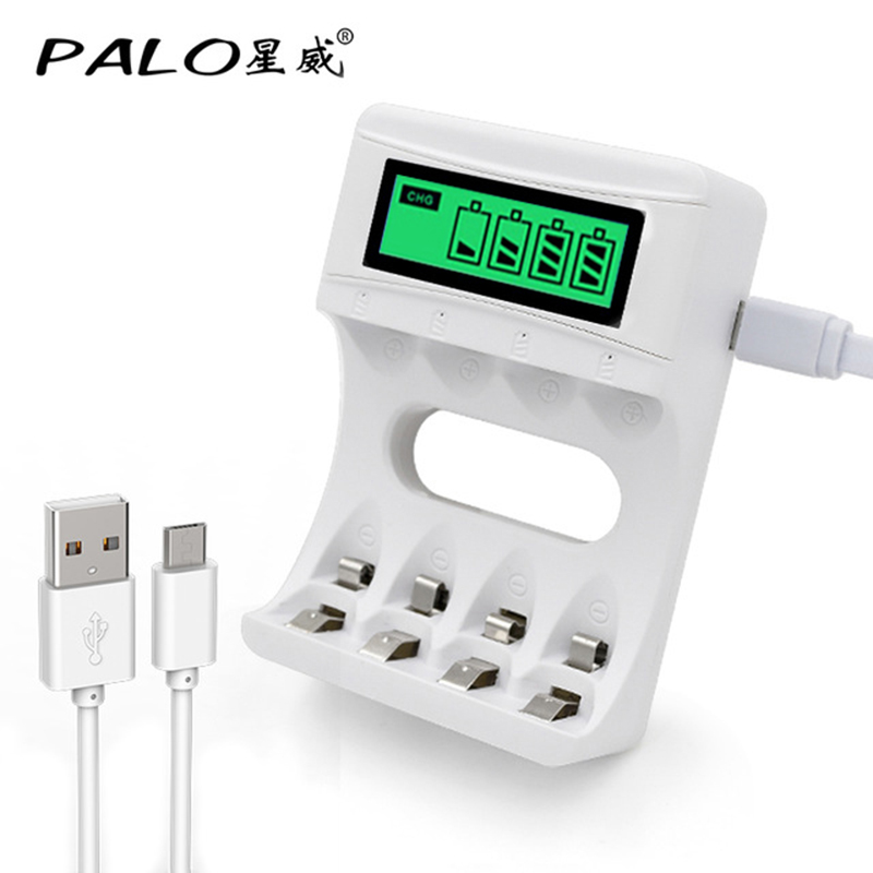 USB Battery Charger For AA AAA 3A 1.2V Ni-Mh Ni-Cd Rechargeable Batteries LCD Screen Smart Charger Fast Charging* цена