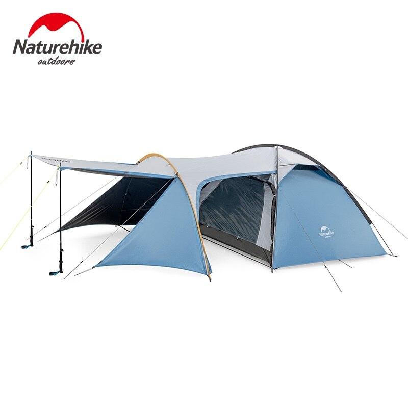 Naturehike Silent Wing series tres estaciones de aluminio poste tienda al aire libre solo camping montañismo carpas viento a prueba de lluvia