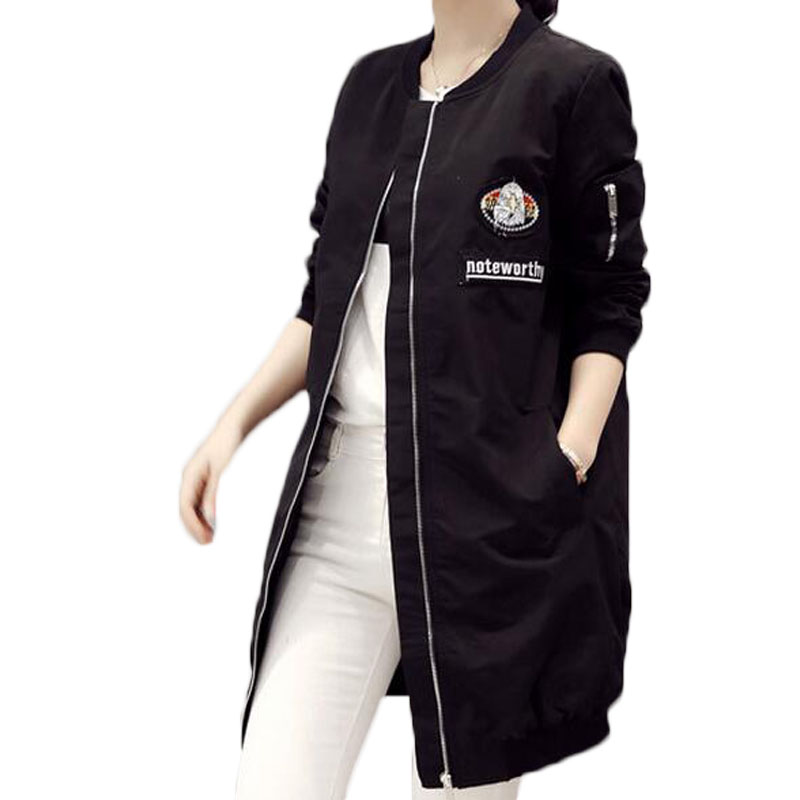 Aliexpress.com : Buy 2016 Long Baseball Jacket Spring Jacket Women ...