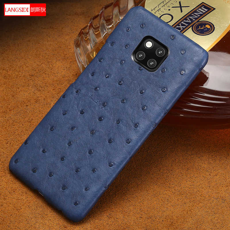 ostrich pattern Genuine Leather phone case for Huawei mate 20 10 pro mate 9 pro Honor 9 Lite High end Anti-fall protective caseostrich pattern Genuine Leather phone case for Huawei mate 20 10 pro mate 9 pro Honor 9 Lite High end Anti-fall protective case