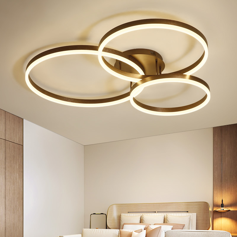 Creative Modern Circle Rings LED Ceiling Lights For Living Room Bedroom Dining Room lamparas de techo Ceiling Lamp Fixtures