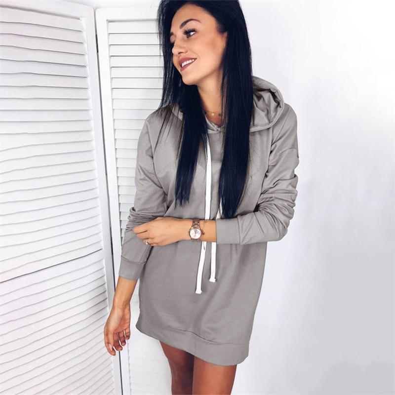 1cec388ba19 Women Long hoodie sweatshirt solid hooded fleece casual pullover  sweatshirts plus size female autumn street wear hoodies hot-in Hoodies    Sweatshirts from ...