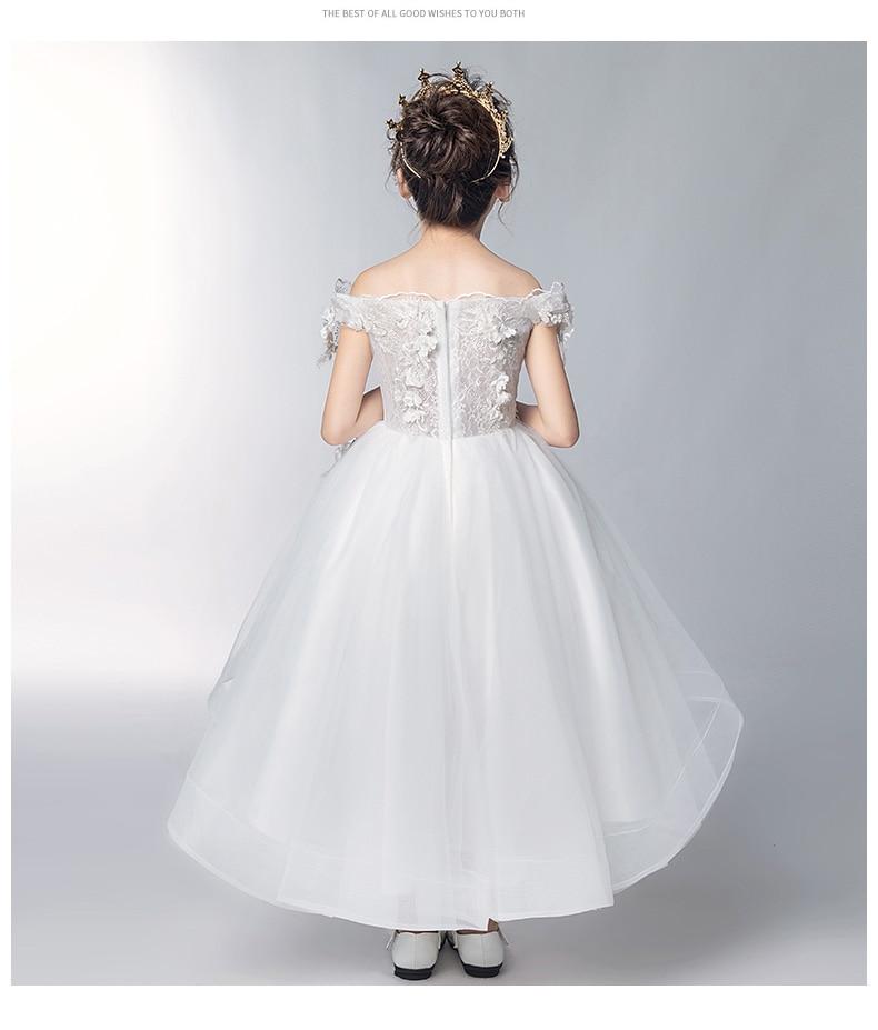 Романтичное свадебное платье подружки невесты с цветочным узором для девочек; Новинка года; длинное кружевное платье с украшением из бисера; праздничное платье с цветочным узором для девочек