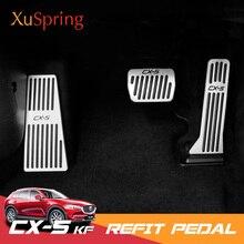 Auto Refit Acceleratore Poggiapiedi Pedali del Gas Piastra di Frizione Freno Acceleratore A Pedale Accessori Per 2017 2018 2019 Mazda CX-5 CX5 KF
