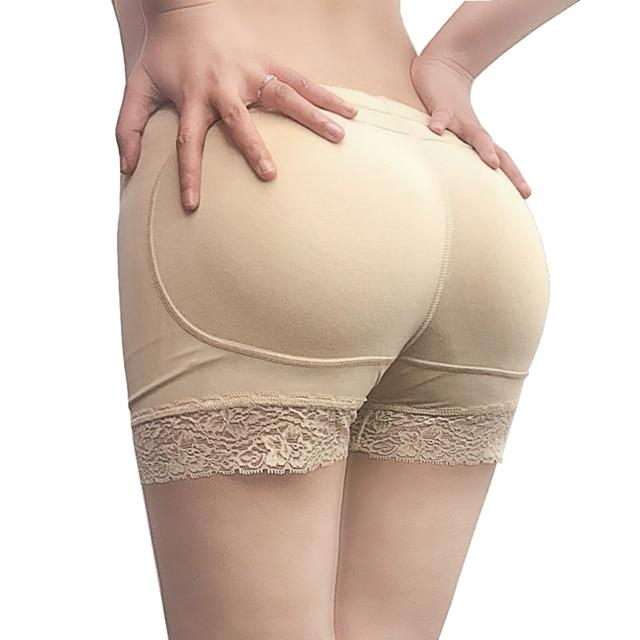 17e06dd39b Brand Buttock Shaper Sexy Woman Boyshort Panties Fake Ass Underwear Push Up  Padded Lace Panties Women Butt Lifter Hip Enhancer