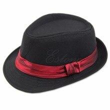 Bebé niños Trilby niño Niños Niñas Fedora Jazz sombrero gorro de algodón al  aire libre nave 6cc2cda1e48