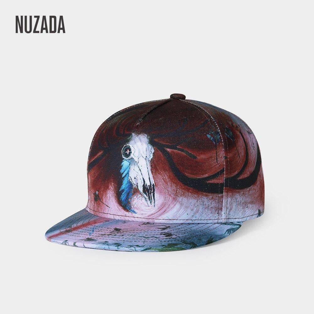 Marke NUZADA Original Design 3D Druck Männer Frauen Paar Baseball Cap Frühling Sommer Herbst Hüte Qualität Knochen Hysterese Kappen
