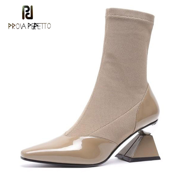 1280415bcc17 Prova-Perfetto-size-34-39-pointed-toe-women-ankle-boots-geometric-strange-high-heel-real-leather.jpg 640x640.jpg