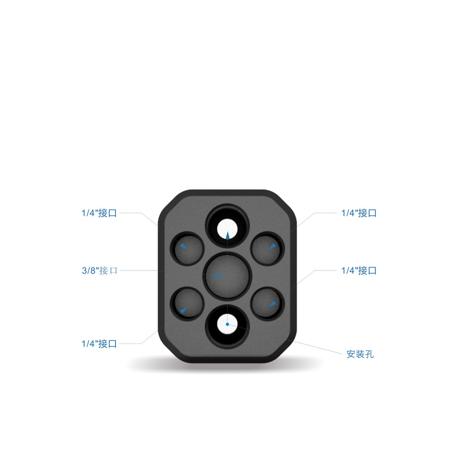 Ronin-S Aluminum Alloy Extension Module Adapter Plate Expansion Module for DJI Ronin-S Handheld Gimbal Spare Part Accessories 3
