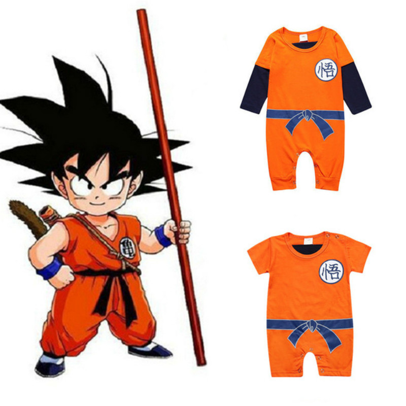 Dragon Ball Baby Rompers Newborn Baby Boys Clothes SON GOKU Toddler Cotton Jumpsuits Bebes Halloween Costumes Baby Girl Clothing