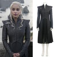Game Of Thrones Season 7 Daenerys Targaryen Cosplay Costume Adult Female Mother Of Dragons Halloween Dress