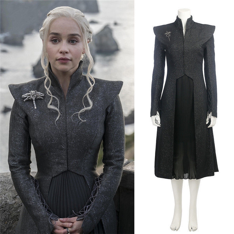 Game of Thrones Season 7 Daenerys Targaryen cosplay costume Adult Female Mother of Dragons Halloween Dress suit for party|costume adult|cosplay costume|costume game of thrones - title=
