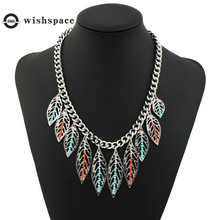 Europe and the United States sell big hollow out the leaves of rice beads restoring ancient ways women fashion necklace jewelry цена 2017