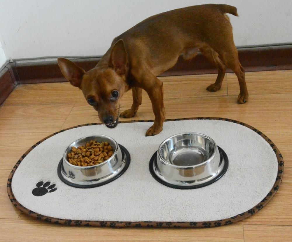 Sinland Microfiber Mat Pet Dog Cat Makanan Mat dengan Paw Imprint - Produk hewan peliharaan - Foto 5