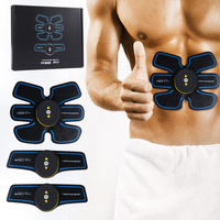 Rechargable Smart EMS Muscle Fitness Abdominal Muscle Toner Electric Stimulator Massager TENS Back Pain Relief ABS Fit