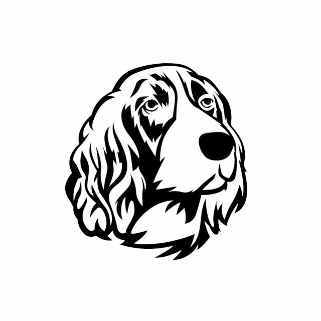 English Toy Spaniel Dog Decal Sticker Choose Color Size #1951