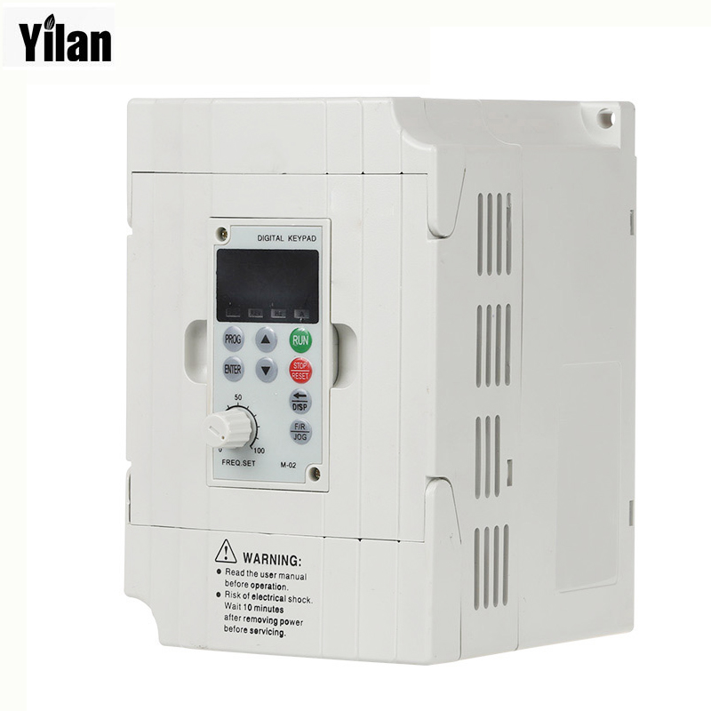Variable Frequency Drive VFD Inverter 1.5KW 2HP 220V 7A 1.5kw inverter with Potentiometer Knob 220V AC for russian 2 2kw 220v ac frequency inverter 400hz vfd variable frequency drive with potentiometer knob ac inverter