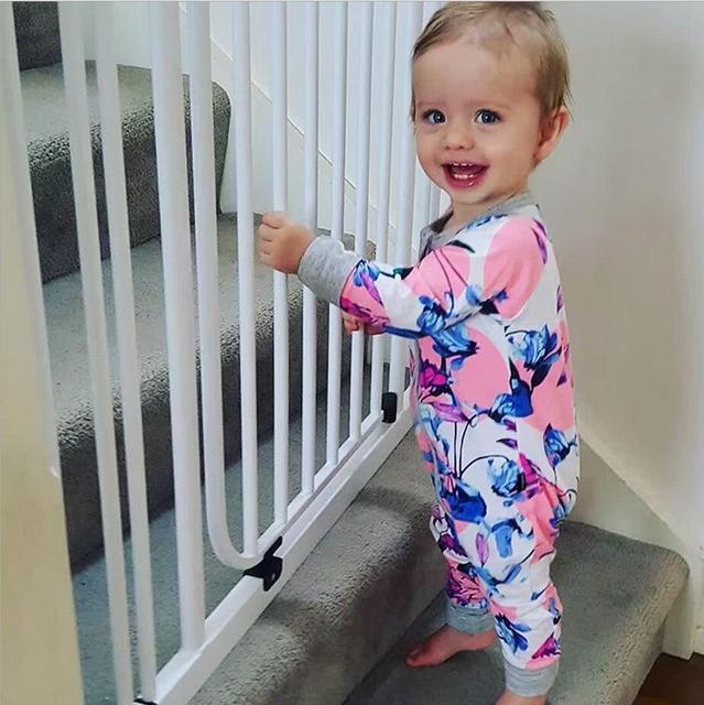 Bebé chicas pijamas del bebé infantil de Los Mamelucos Del Mono de manga larga de Algodón puro de una sola pieza traje de ropa de boutique