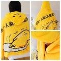 Плюш одеяло 1 шт. 115 см gudetama яичный желток плащ палантин шаль мягкая фланель офис отдых игрушка творческий подарок для дети ребенок