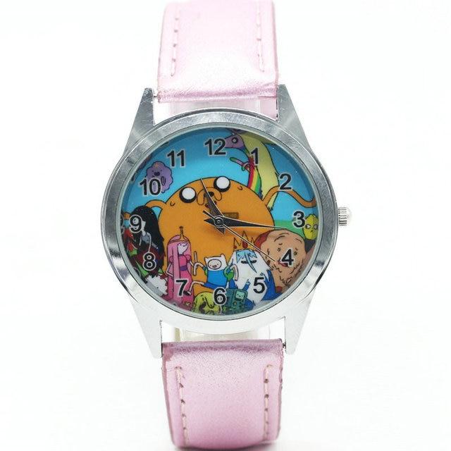 e5b8d451 Время приключений с Финном и Джейком детские часы для мальчиков и девочек  дети движение кожа Спортивные